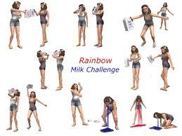 Challenge Vomit Second Marketplace Rainbow Milk Challenge Poses