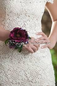 wedding wrist corsage burgundy wrist corsage