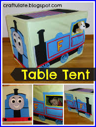 thomas the tank engine table top table tent super cute and doesn t seem to hard to make nosewing