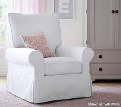 Nursery Chair Slipcovers Pb Kids Grand Comfort Swivel Glider U0026 Ottoman Pottery Barn Kids