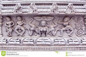 ornamental temple wall statues stock photo image 60846927
