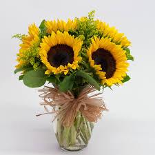 sunflower arrangements sunflower vase flowers from the heart