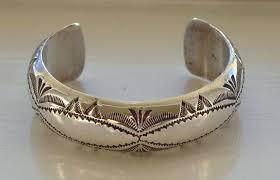 silver bracelet hand images Big hand navajo sterling silver bracelet 38 vintage texas jpg