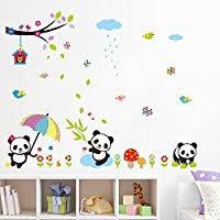 stickers panda chambre bébé amazon fr panda décorations murales accessoires et décorations