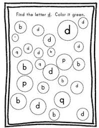 B And D Worksheets Inspired By Kindergarten B And D Confusion Dabbers Or Similar