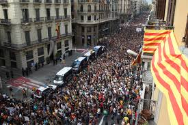 spain u0027s king denounces independence bid as catalans take to