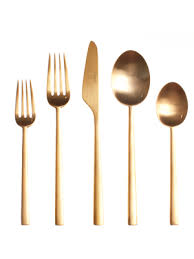gold flatware rental modern gold dinner fork ultrapom wedding and event decor