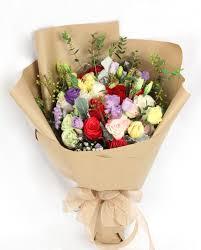 r04 colourful roses bouquet floral garage singapore