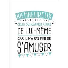 Lui Meme - carte postale message bienheureux celui qui rit de lui même kiub de