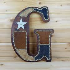 Western Moments Original Home Furnishings And Decor Cowhide Wall Letter G Monogram Wall Decor Western By Lizzyandme
