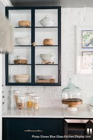 glass kitchen cupboard shelves black kitchen glass display unit