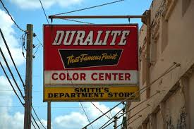 duralite paints sign abbeville vanishing south georgia