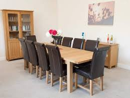 Kitchen Table Seats 10 by 10 Seater Butterfly Extending Large Oak Dining Room Table