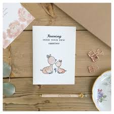 baby shower cards fawn card baby card baby shower card woodland animal baby