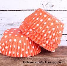 halloween cupcake liners orange polka dot cupcake liners orange baking cups orange