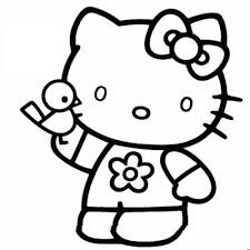 printable kitty coloring pages cool bkids pictures