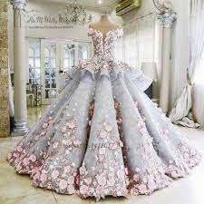 luxury wedding dresses colorful luxury wedding dresses pink flowers dreamy gown