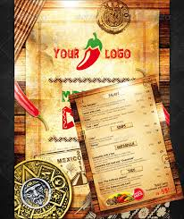 50 great restaurant food menu print templates frip in places