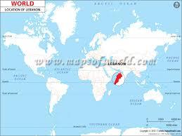 lebanon on the map where is lebanon location of lebanon