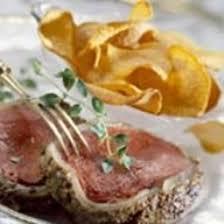cuisiner le chevreuil facile recette filet de chevreuil à la moutarde chips de patates douces