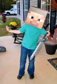 Minecraft Herobrine Halloween Costume Steve Riding Pig Minecraft Cardboard Halloween Costume Carrots