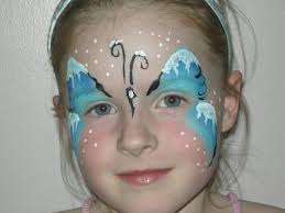 snowflake face painting ideas and designs butterfly face