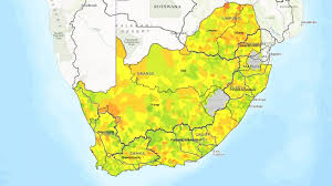 africa map emoji wwf s new interactive map visualises south africa s current water