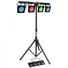 t bar led lighting 4x led par cans t bar controller ht light sound