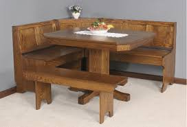 dining room oak wood corner breakfast nook set for comfy home