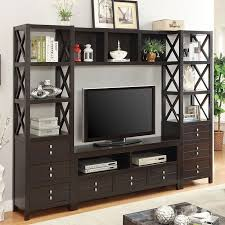cappuccino modern entertainment wall entertainment centers and