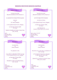 wedding invitation wording examples cloveranddot com