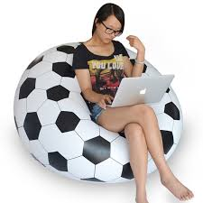 inflatable sofa chair couch bean bag soccer ball football
