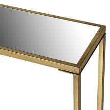 Slimline Console Table Slimline Gold Metal Mirror Console Table Mulberry Moon
