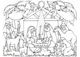 Nativity Coloring Pages Coloring4free Com Free Printable Nativity Coloring Pages