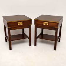 caign style side tables pair of caign style mahogany side tables la57921 loveantiques com