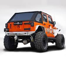 jeep bumper topfire jeep jk jku 2007 2017 aluminum rear bumper ebay