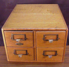 Timber Filing Cabinets Library Card Cabinet Ebay