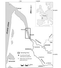 Bordeaux France Map Map Showing The Gironde Estuary Sampling Area Approximately