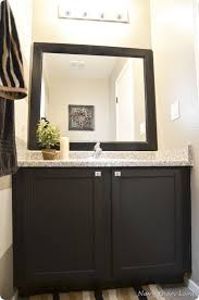 Painting Bathroom Vanity How To Paint Wood Bathroom Cabinets Black Nrtradiant Com