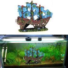 sailing boat fish tank wreck aquarium destroyer cave decor