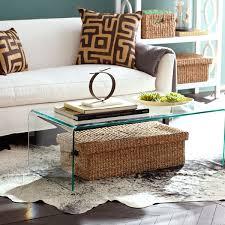 lucite waterfall coffee table waterfall coffee table wisteria