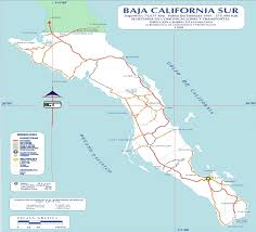 Road Map Of Mexico by Baja California Sur Mexico Road Map U2022 Mapsof Net
