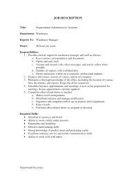 resume skills and abilities administrative assistant medical office administration job description for resume manager