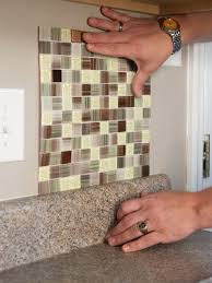 Mosaic Tile Backsplash Kit Diy Do It Your Self - Tile backsplash diy