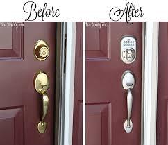Interior Keyless Door Locks Dress Up Your Doors 100 Lowes Giveaway With Electronic Front Door