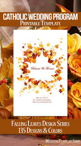 Catholic Wedding Program Cover Church Program Covers