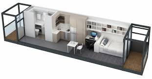 studio apartment floor plans 3d