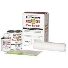 rust oleum dry erase kit white 32ut27 270196 grainger