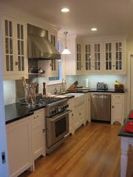 Black And White Kitchen Cabinets by Kitchens Glass Front White Maple Kitchen Cabinets Absolute Black