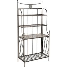 White Bakers Rack How To Buy Wrought Iron Outdoor Bakers Rack U2014 Home Designing